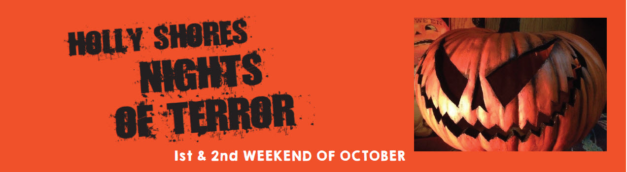 Holly Shores Camping Resort Cape May Halloween Events Banner Nights of Terror